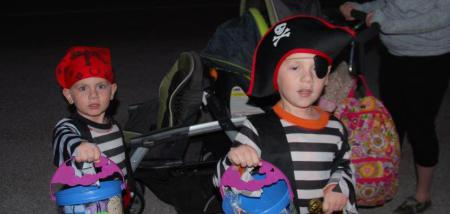Church kids dressed for Halloween