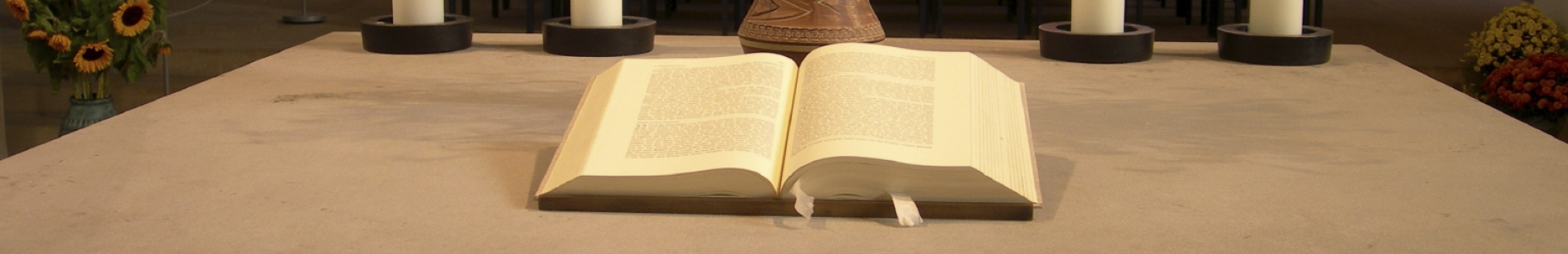 Open Bible for scripture readings